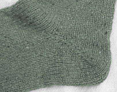 Boot socks, heel