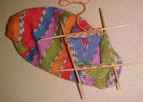 Sock on the needles